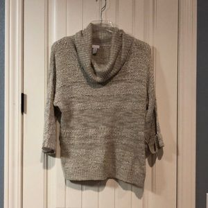 Cream size 2 Chico's loose fit sweater